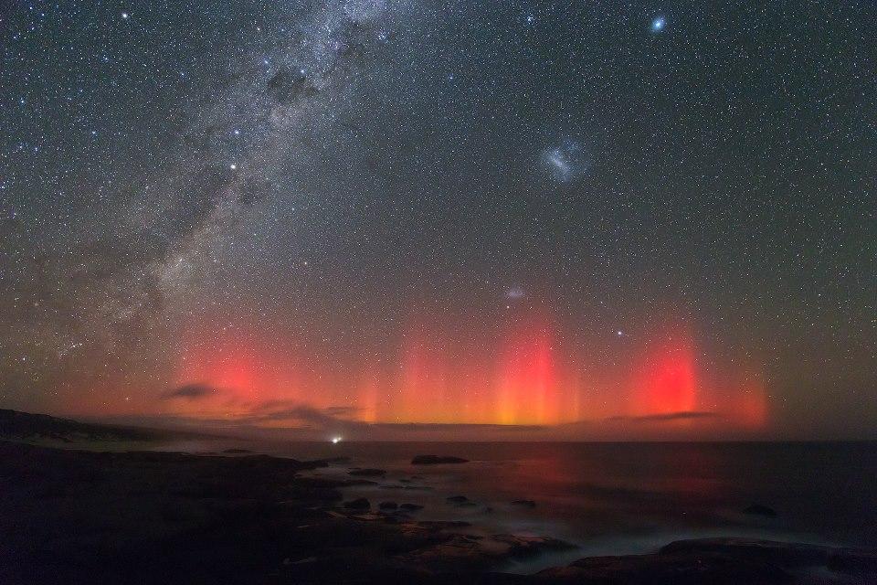 March 17, 2013 aurora as seen from Australia via Colin Legg. View larger.