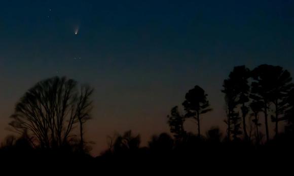 Comet Panstarrs on March 21, 2013