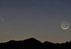 Comet PANSTARRS and a young moon