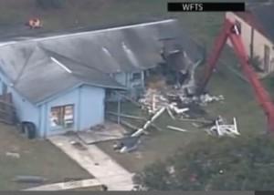 House where sinkhole struck Feb. 28 via WTSP