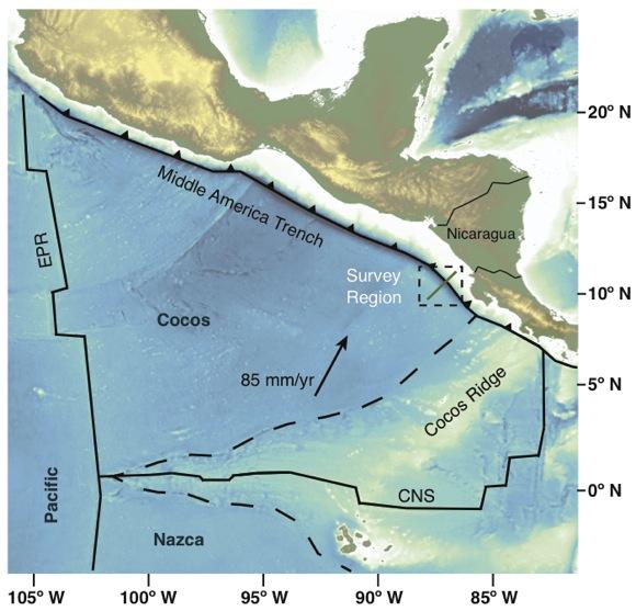 Map of survey region