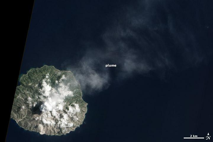 Paluweh Volcano on March 26 via NASA's Terra satellite.