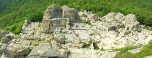 Looking down on the ruins of Perperikon