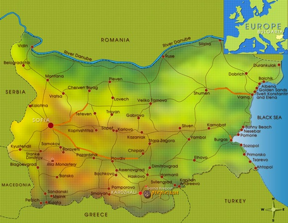 Map showing Perperikon location
