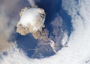 Sarychev peak eruption