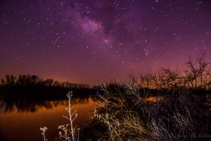 Stars before sunrise over Clear Creek, Arkansas