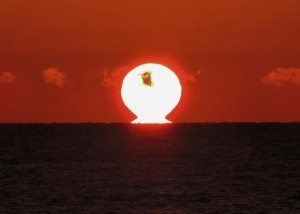 Sunrise as seen from Haida Gwaii