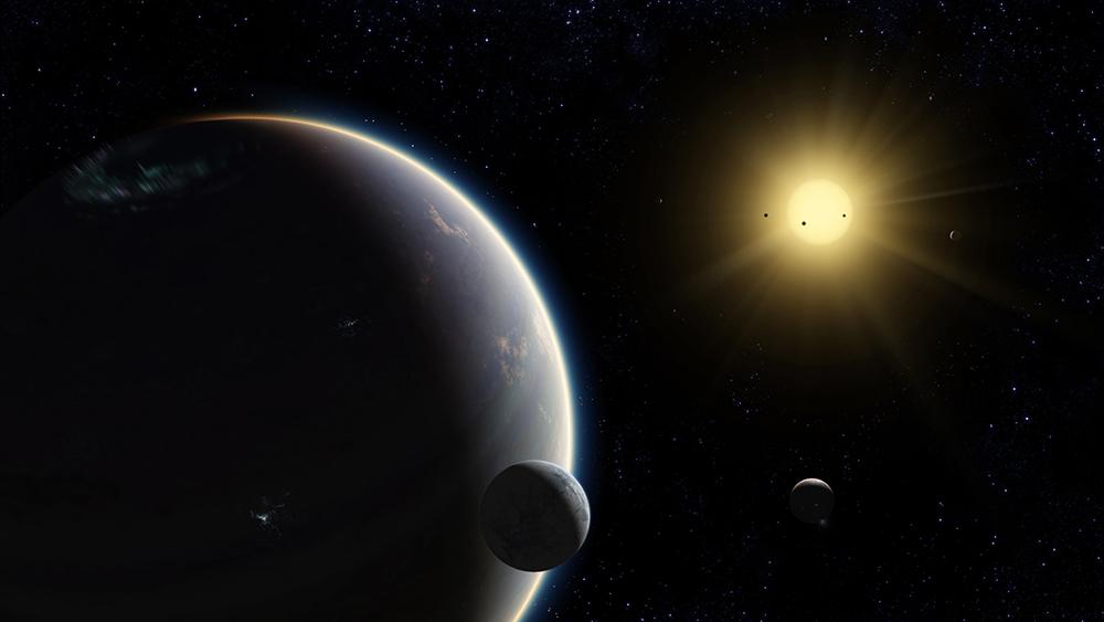 Artist's concept of exoplanets via Uwingu.