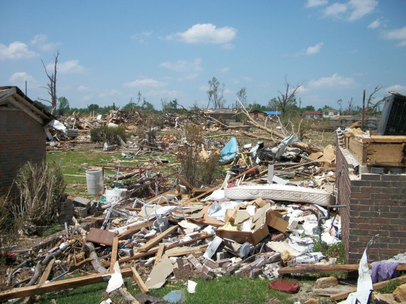 An EF-4 tornado struck Pleasant Grove, Alabama and destroyed a large community. Image Credit: Matt Daniel