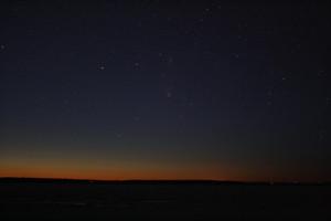 Comet PanSTARRS and Andromeda galaxy