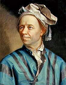 Portrait of Leonhard Euler (1707-1783) made in 1753