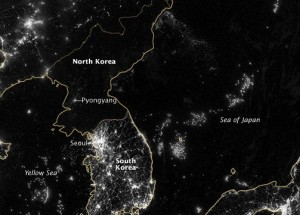 Korean Peninsula Sept. 24, 2012 via NASA