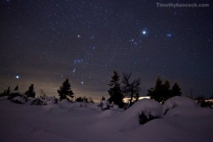 This wonderful came by way of EarthSky facebook friend Timothy Boocock. Orion's Belt points to Sirius on left and to the planet Jupiter, the star Aldebaran and the Pleiades cluster at right. Click here for a larger photo. Thank you Timothy Boocock!