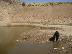 Diminished water source