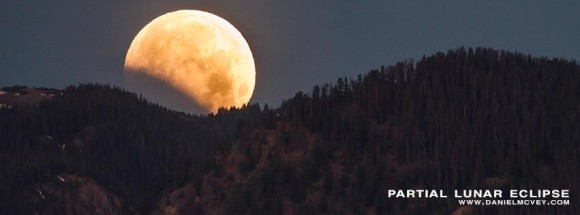 Partial lunar eclipse of June 4, 2012 as seen in Summit County, Colorado by EarthSky Facebook friend Daniel McVey Photography.  Visit Daniel McVey's Facebook page.  The lunar eclipse of April 25, 2013 will not be visible in North America.