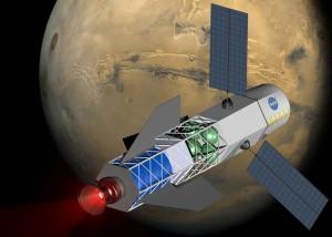 Artist's concept fusion rocket via U. Washington