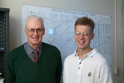 William M. Gray and Philip J. Klotzbach. Image Credit: CSU
