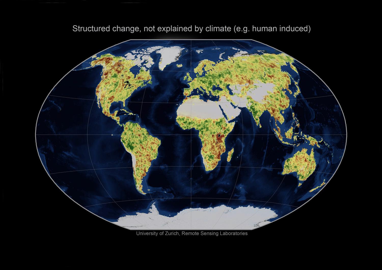 human effects on vegetation