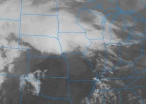 Infrared image U.S. storm April 9, 2013