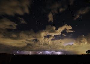 Starry skies and lightning strikes