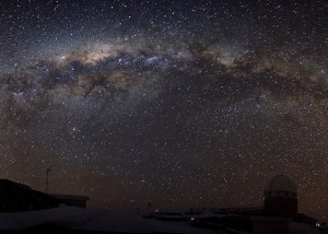 Milky Way Galaxy arching over ESO in La Silla, Chile.