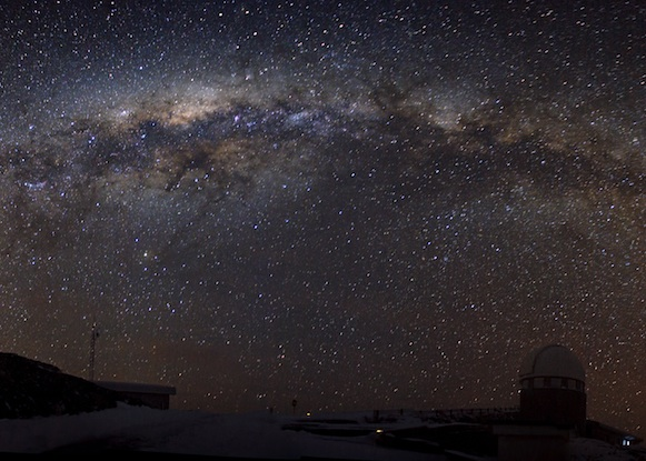 Milky Way Galaxy arching over ESO in La Silla, Chile.
