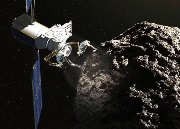 In 2010, President Obama set a goal for NASA of sending a team of astronauts to visit a near-Earth asteroid (NEO) by 2025.  But rather then propelling humans on a dangerously long journey into interplanetary space, why not bring the asteroid here and place it in orbit around the moon?  That idea has found its way into Obama's proposed budget for fiscal year 2014.