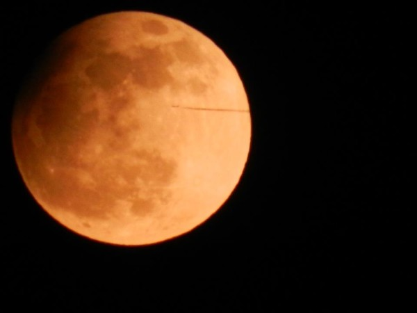 April 25 partial lunar eclipse via our friend Sharon Williams in Guernsey.  Thank you, Sharon!