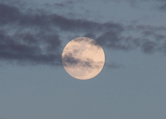 The April 24, 2013 almost full moon as captured by EarthSky Facebook friend Steve Pauken in Arizona.  Thanks Steve!