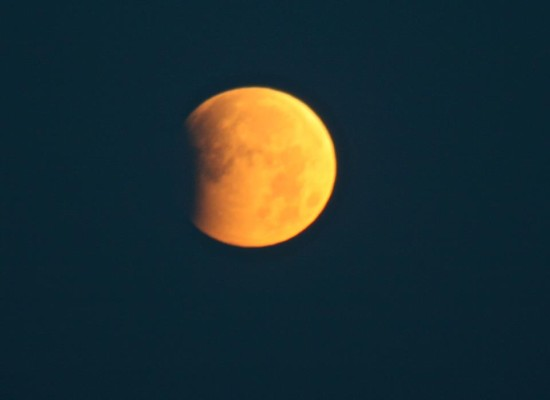 Partial lunar eclipse of June 4, 2012 as captured by EarthSky Facebook friend Laurel Nendza.  Thank you, Laurel!