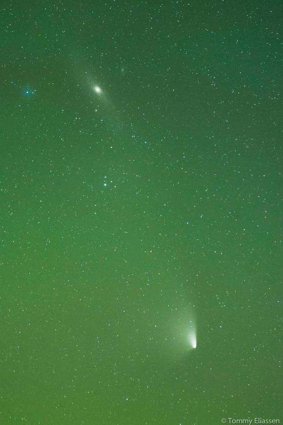 Comet PANSTARRS near andromeda
