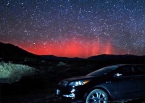 pink aurora