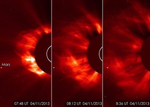 Image via ESA/NASA/SOHO/GSFC