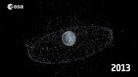 There are 17,000 objects in Earth orbit currently being monitored.  Only 7% of them are functioning satellites.
