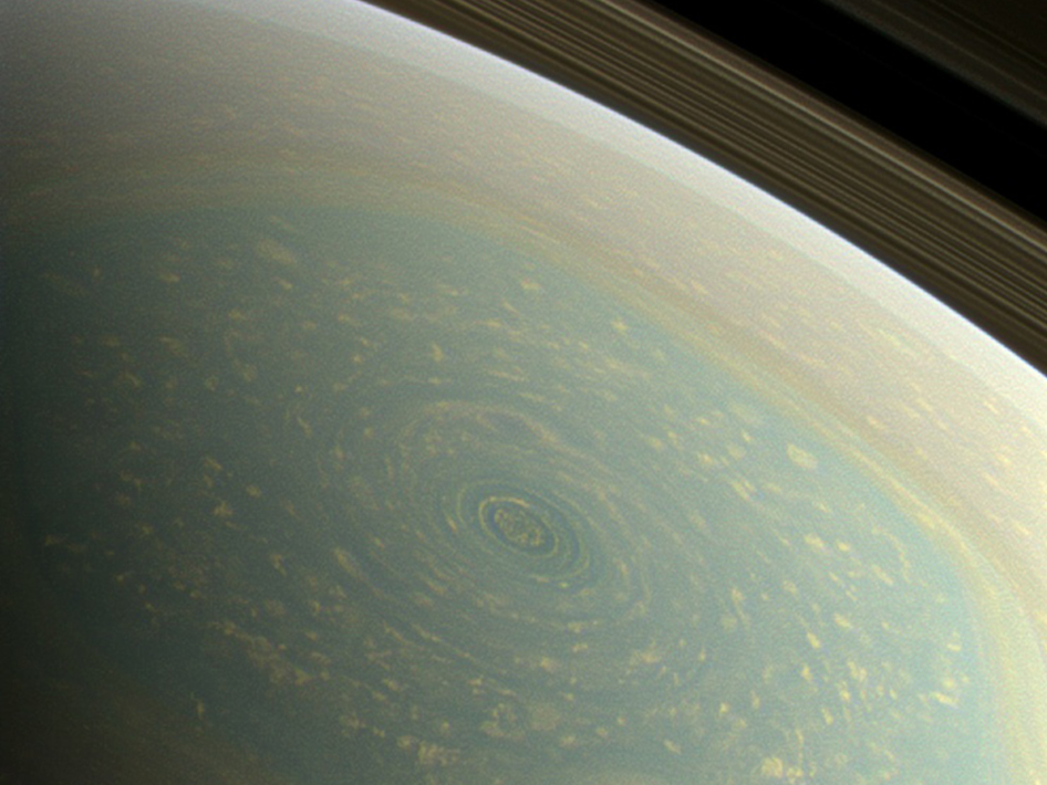 Spring North Pole on Saturn
