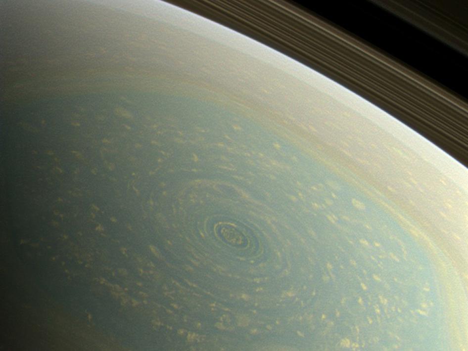 Spring North Pole on Saturn