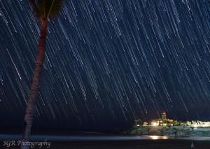 Star trails over Baja, California