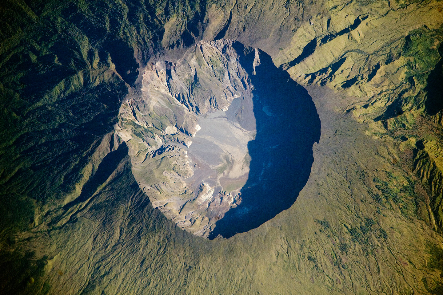 Tambora seen from the International Space Station in 2009. Image credit: NASA