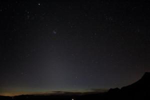 Zodiacal light April 2013