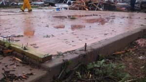 EF-4 tornado struck Granbury, Texas and only left slabs of houses in the area. Image Credit: NWS
