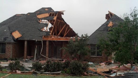 Tornado damage at Johnson County Lake (Texas). Image Credit: NWS