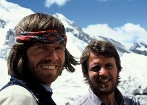 Messner (left) and Habeler.