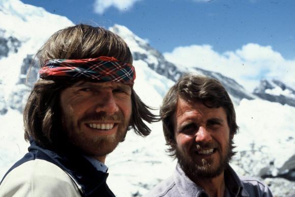Reinhold Messner and Peter Habeler in 1978.
