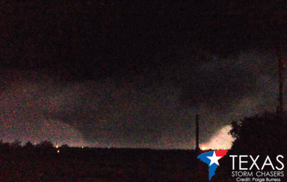 One-mile wide tornado north of Rio Vista, TX on May 15, 2013. Image Credit: Paige Burress