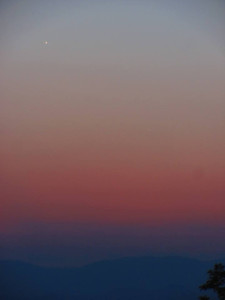 Venus and Mercury after sunset on May 20, 2013