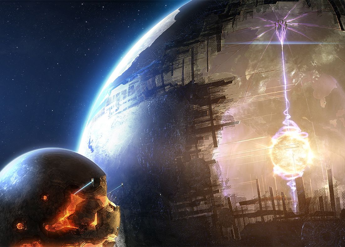 Big bad Dyson sphere in the vacuum of space