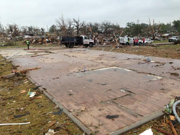 Damage in Granbury, Texas. Image Credit: NWS