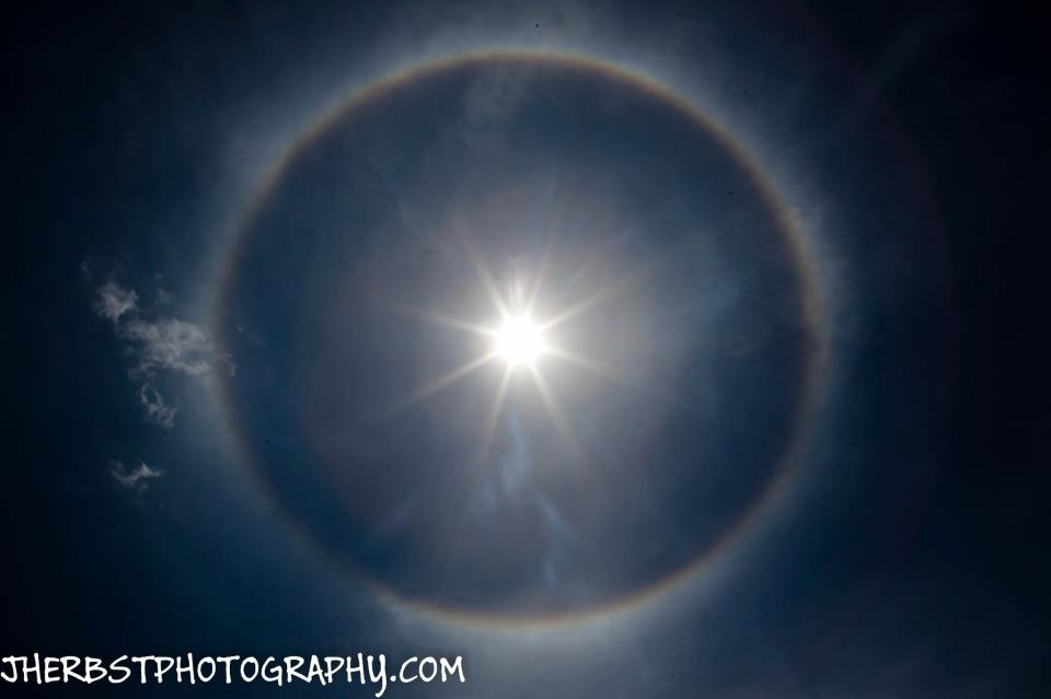 Sun halo over U.S. East Coast yesterday