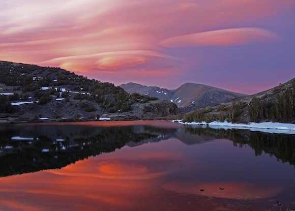 Lenticular clouds at 20 Lakes Basin