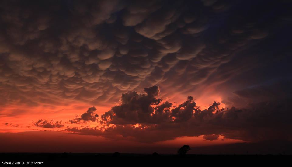 View larger. | Mammatus clouds over Ft. Worth, Texas on May 20, 2013 - the day the tornado struck near Oklahoma City.  Photo by our friend Sundog Art Photography.  Visit his page on Facebook here.
